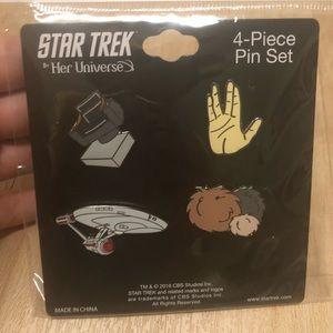 Star Trek Enterprise pin set